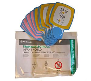 Physio-Control Lifepak CR Plus/CR-T électrodes de formation pédiatriques (5 paires)
