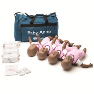 Laerdal 4 pack Baby Anne Mannequins avec sac souple(version noire)
